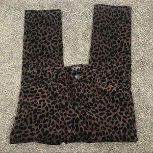 Ann Taylor LOFT cheetah print soft straight crop